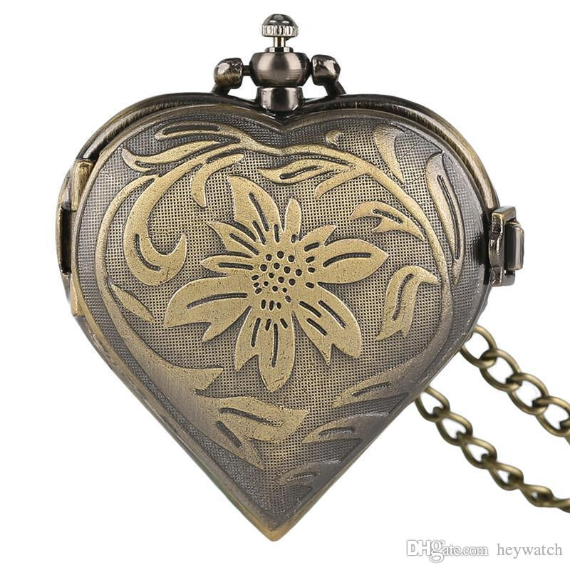 Women's Pocket Watch, Beautiful Vintage Pocket Watches Necklace Valentines Gift for Women