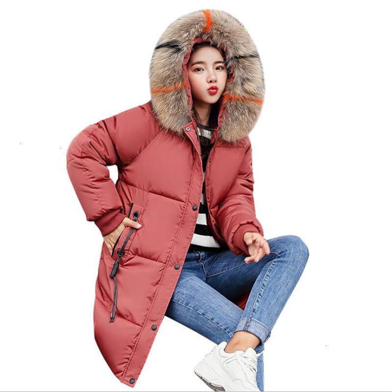 Casual Jacket Autunno Inverno lungo Fat donne calde Parka femminile plus size con cappuccio Bonn Crow Jas Extender 3XL CM946