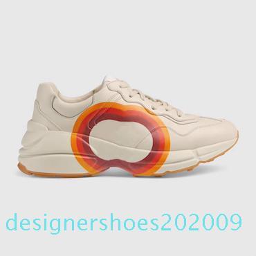 Erkek Rhyton Günlük Ayakkabılar Baba Sneaker Paris Moda Lüks Tasarımcı Kadınlar Ayakkabı Platformu Tripler Çilek Dalga Ağız Kaplan Web Baskı D09