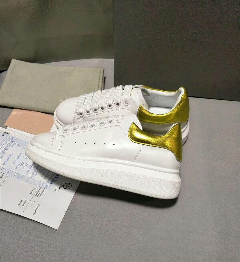 2018 Zapatos casuales blancos Con cordones Confort de diseño Pretty Girl Mujeres Zapatillas de deporte Zapatos de cuero casuales Hombres Mujeres