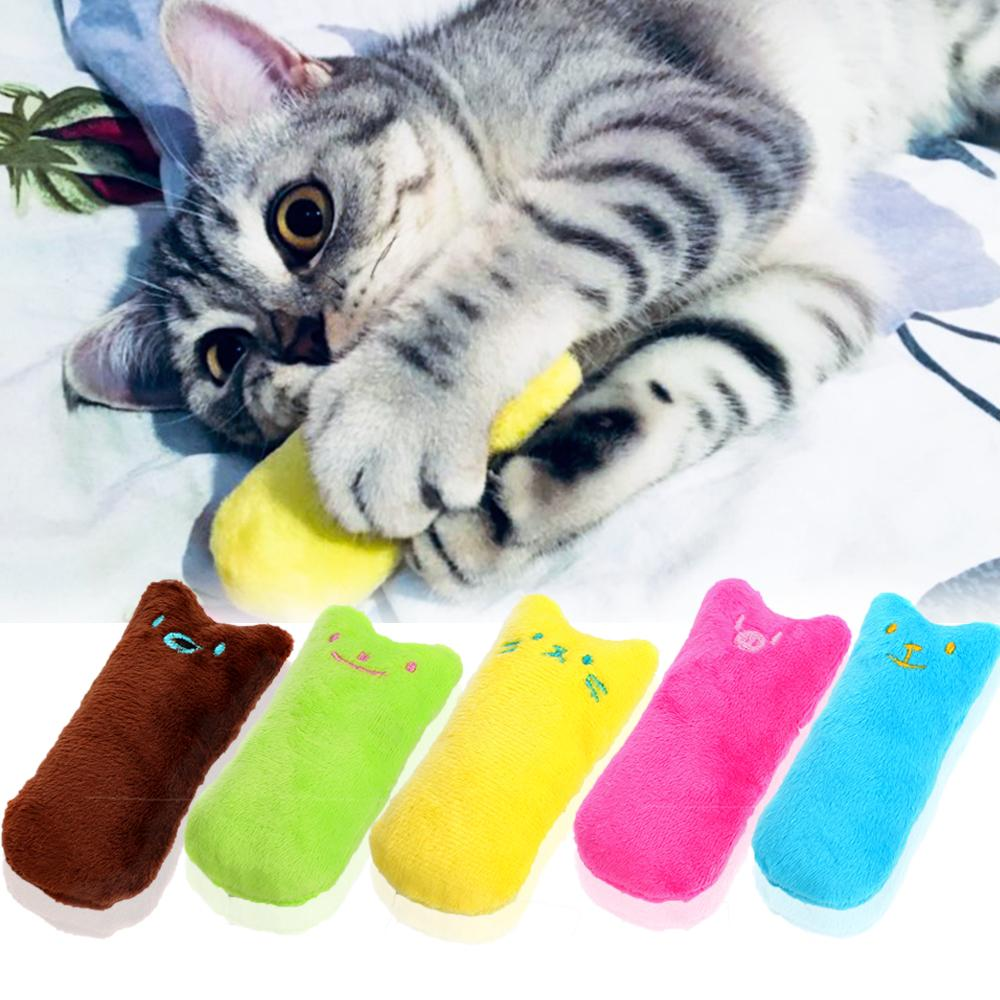 PAWING New Arrival Scratch Crazy Cat Cute Pillow Finger Shaped Dog Cat Toys Kicker Catnip Toy Teeth Grinding Toys