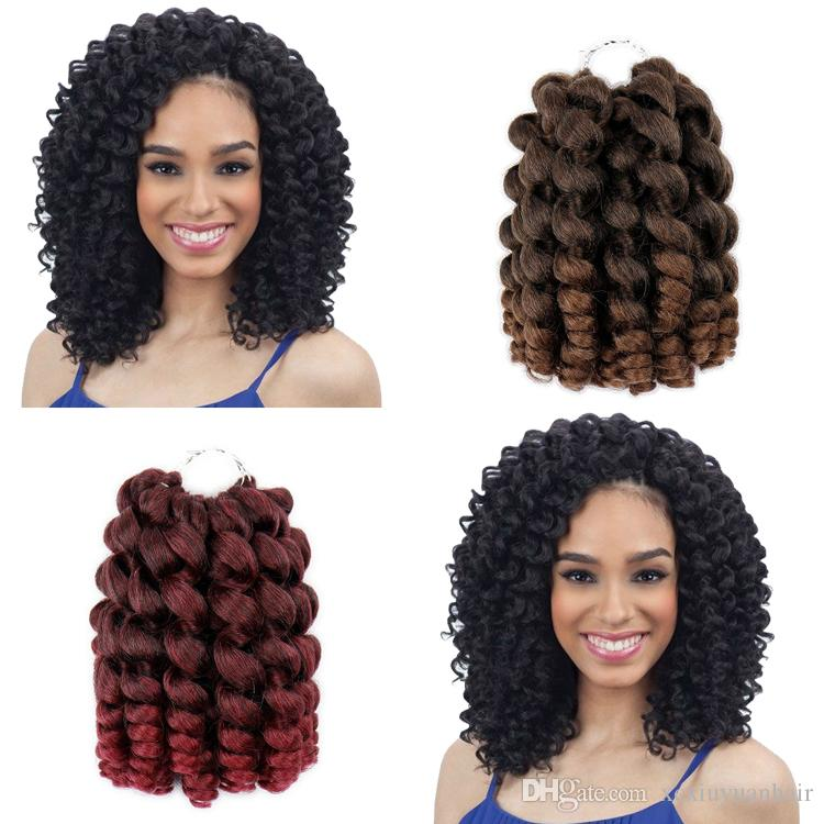 Wand Curl 8inch 80g Bounce Crochet Hair 20 Roots Synthetic Braiding Hair Import Silk Wand Curl Crochet Hair Extensions