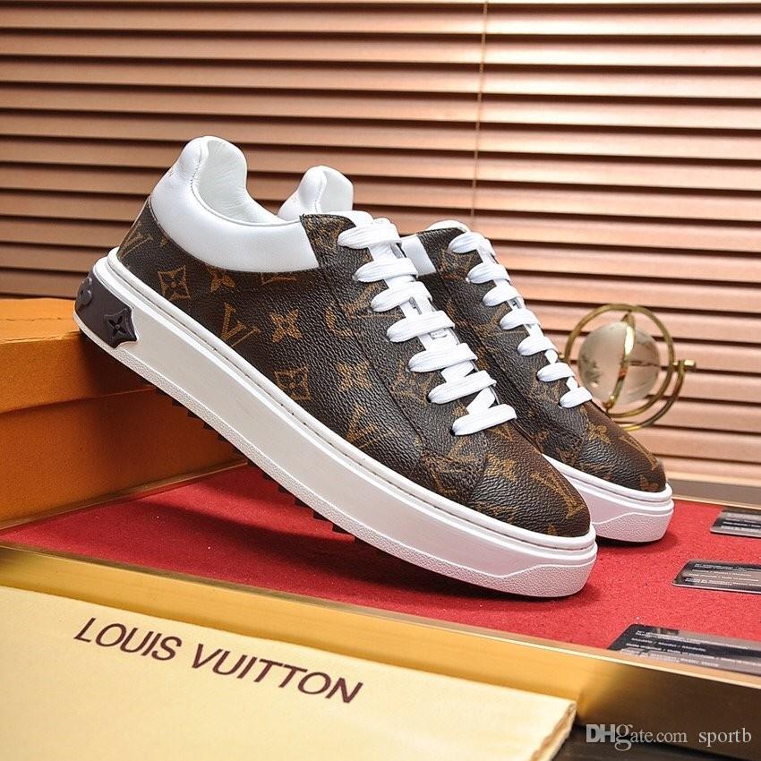 Louis vuitton U2 Hochwertige Mode Freizeitschuhe der Männer Outdoor-Sport gut aussehende wilde Luxusschuhe original Box-Verpackung Zapatos Hombre