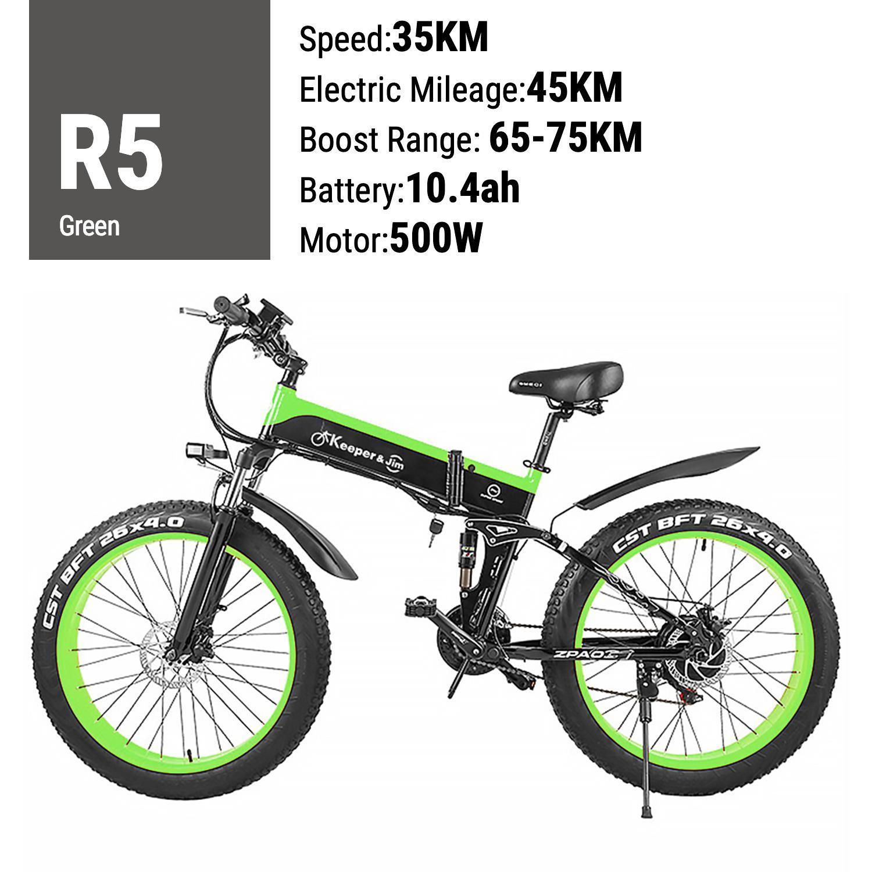 4,0 yağ lastik e bisiklet Dağ bisikleti ile elektrikli bisiklet Varış 48V 12AH 1000W Katlanabilir Elektrikli Bisiklet