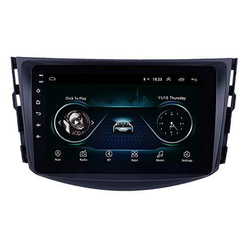 8 pouces Android 9.0 voiture Système Radio navigation GPS pour la période 2007-2011 Toyota RAV4 avec Bluetooth WIFI 1080P DVR DVR soutien OBD II