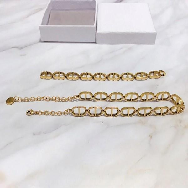 Meilleures ventes rétro tendance minimaliste bijoux de mode alphabet collier femme bracelet femme