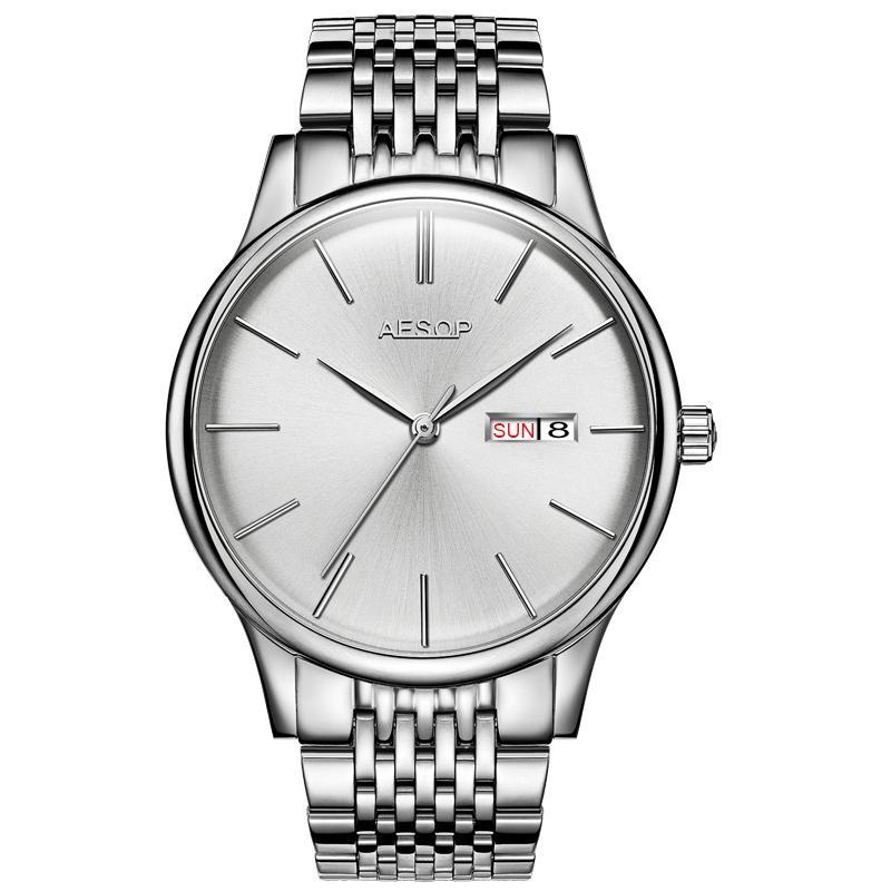 AESOP 8.5 мм ультра тонкий Модные мужские часы лучший бренд класса люкс мужские часы мужчины Relogio Masculino щепка ремешок