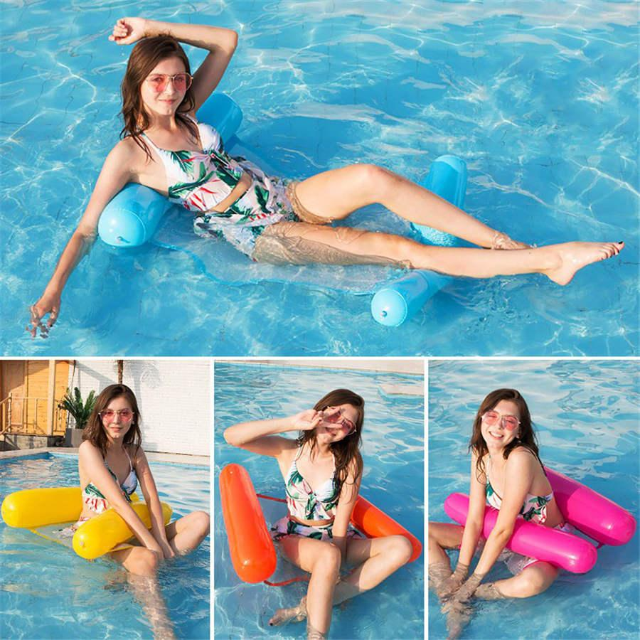 Water hammock recliner inflatable floating Swimming Mattress sea swimming ring Pool Party Toy lounge bed for swimming