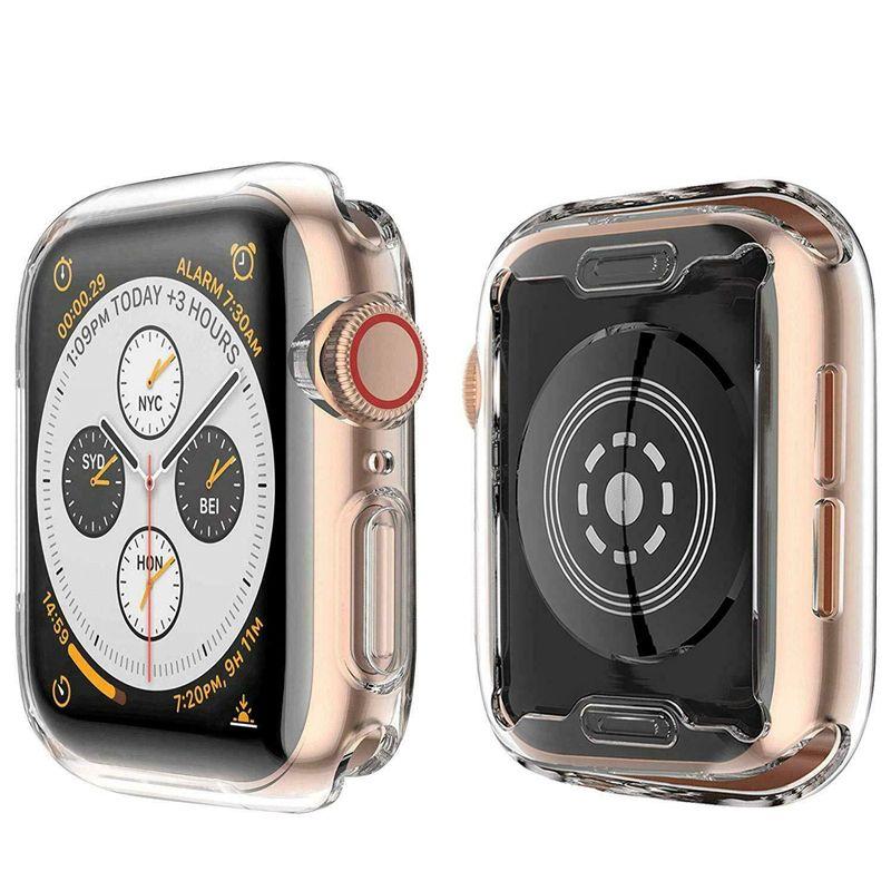 التفاح ووتش 4 الحال مع متضمن في TPU شاشة حامي-كل مكان حالات واقية HD واضحة رقيقة جدا تغطية لتفاح iwatch سلسلة 4