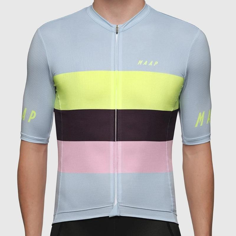 2020 MAAP Велоспорт Джерси с коротким рукавом Одежда велосипеда MTB велосипеда одежды Мужского дышащими гонки велосипед Джерси Tops