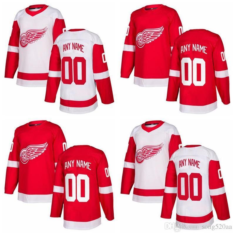 Personalizzato Detroit Red Wings Fleury delle donne degli uomini della Gioventù 2017 di nuovo di marca bianco rosso qualsiasi nome Qualsiasi cucita numero pullover del hokey S-3XL