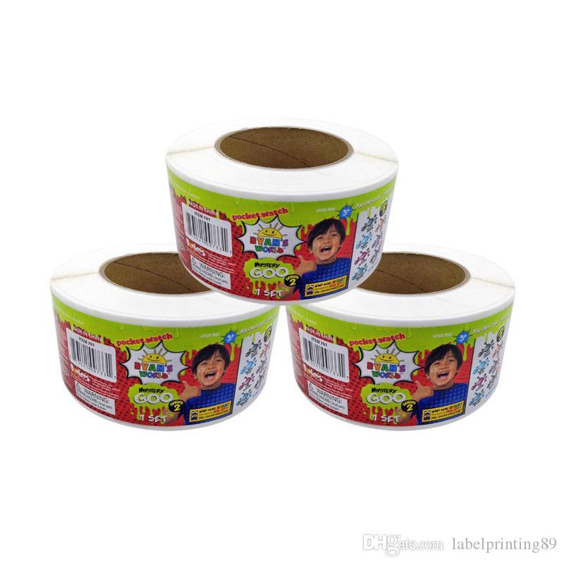 Impression de rouleaux colorés Paquet Numérique Adhésif autocollant étiquette Vinyle résistance thermique Stickers brillants étiquettes jouet écologique