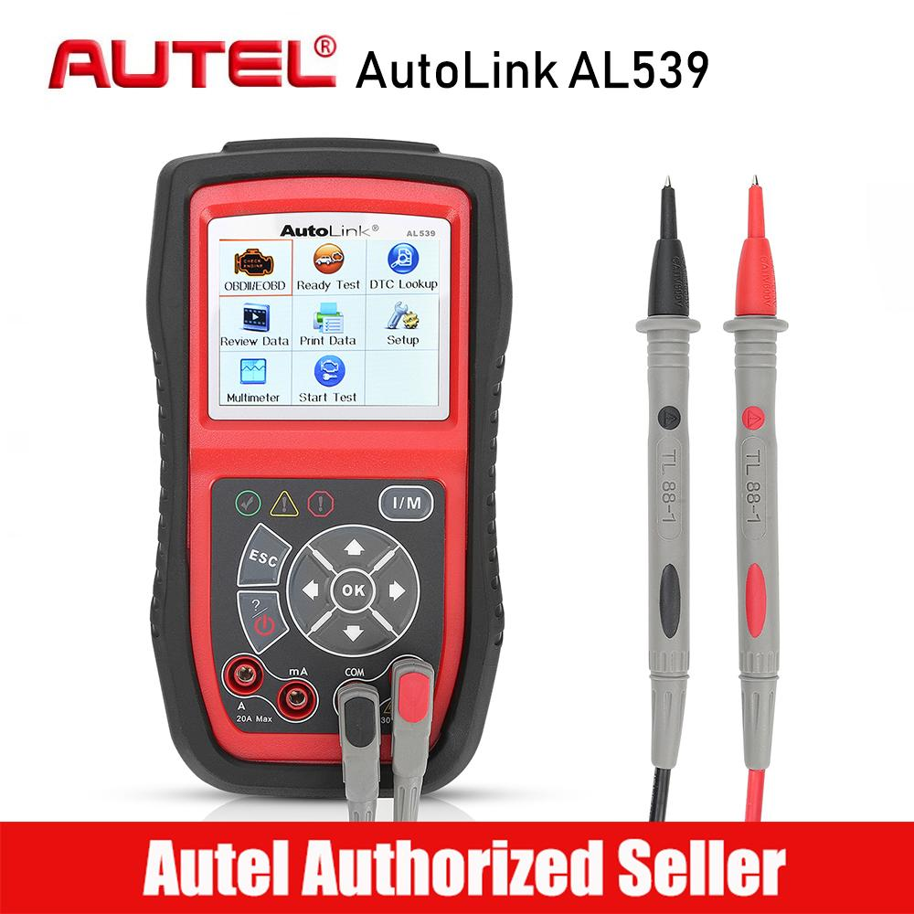 Autel AutoLink AL539 OBD2 Scanner Electrical Voltage Test 12V Battery Tester AVOmeter Car Diagnostic Tool DIY Code Reader