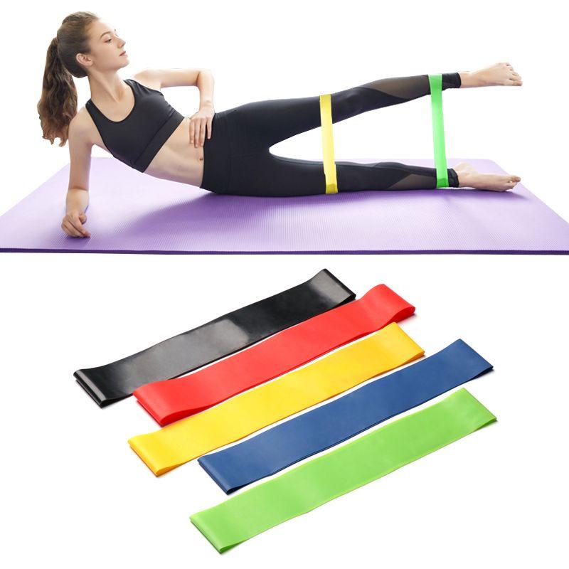US Nave 5pcs fasce di resistenza di esercitazione set Attrezzatura Fitness Elastic Expander Banda di allenamento di ginnastica fune Home Formazione Crossfit Developer