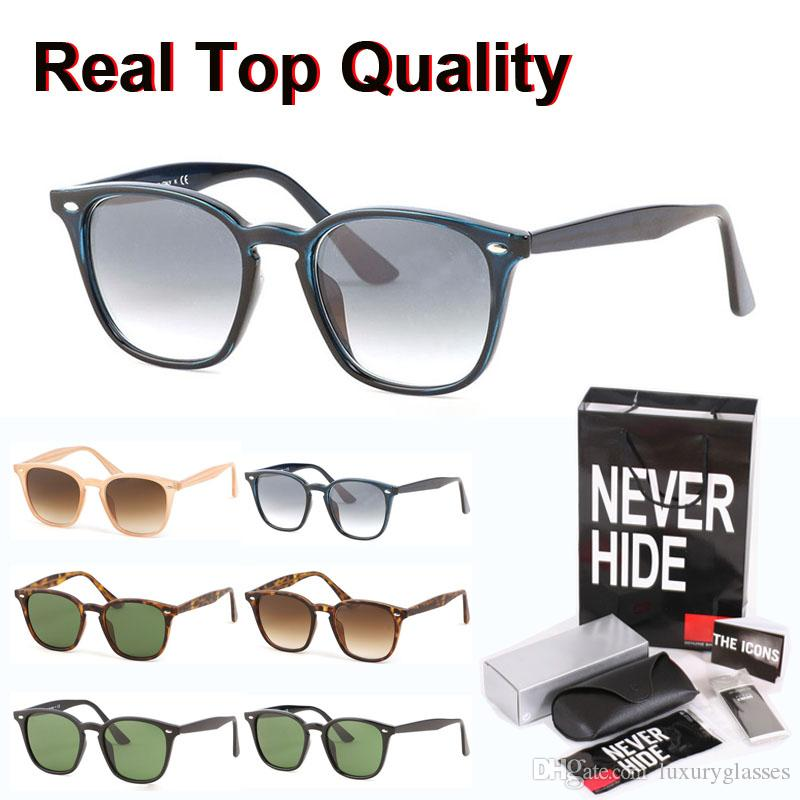New Arrival Brand Design glass lens Square Sunglasses Women men cool street sun glasses with original box, packages, accessories, everything