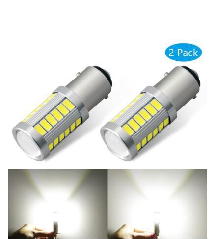 2PCS 유니버설 1157 BAY15D 1156 BA15S 33SMD P21W 900 루멘 슈퍼 밝은 LED 턴 꼬리 브레이크 정지 신호 빛 램프 전구 12V
