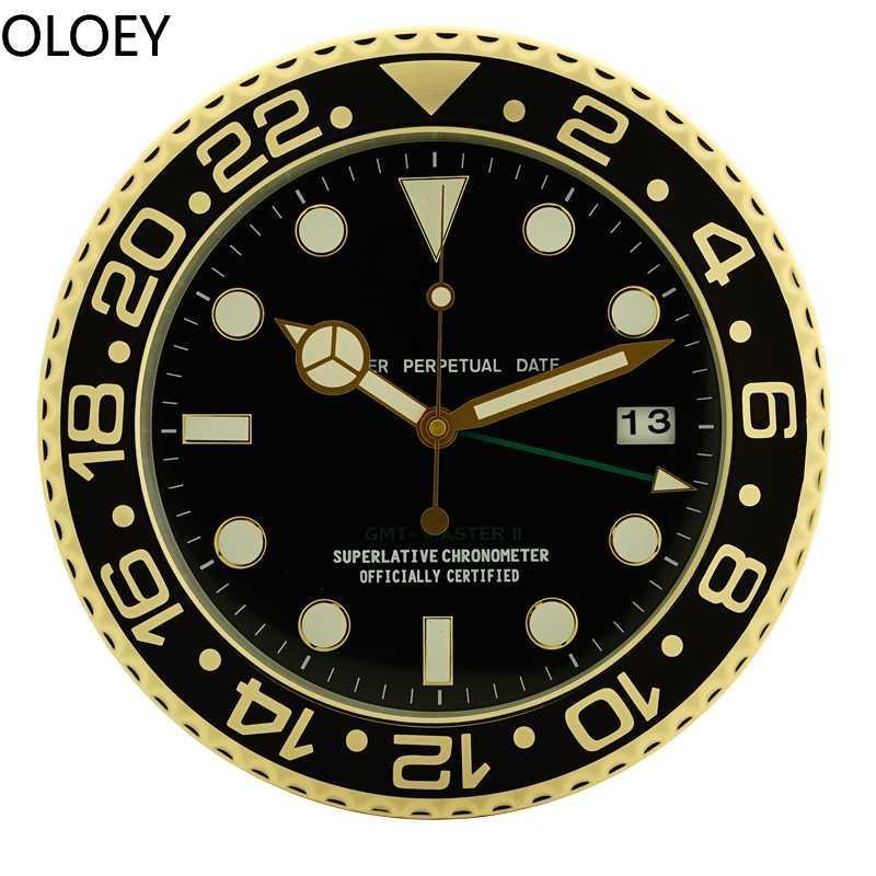 Европа Металлические Настенные Часы Современный Дизайн Гостиная Спальня Домашний Декор Большие Настенные Часы Немой Часы Горячие Продажи Идеи Подарков