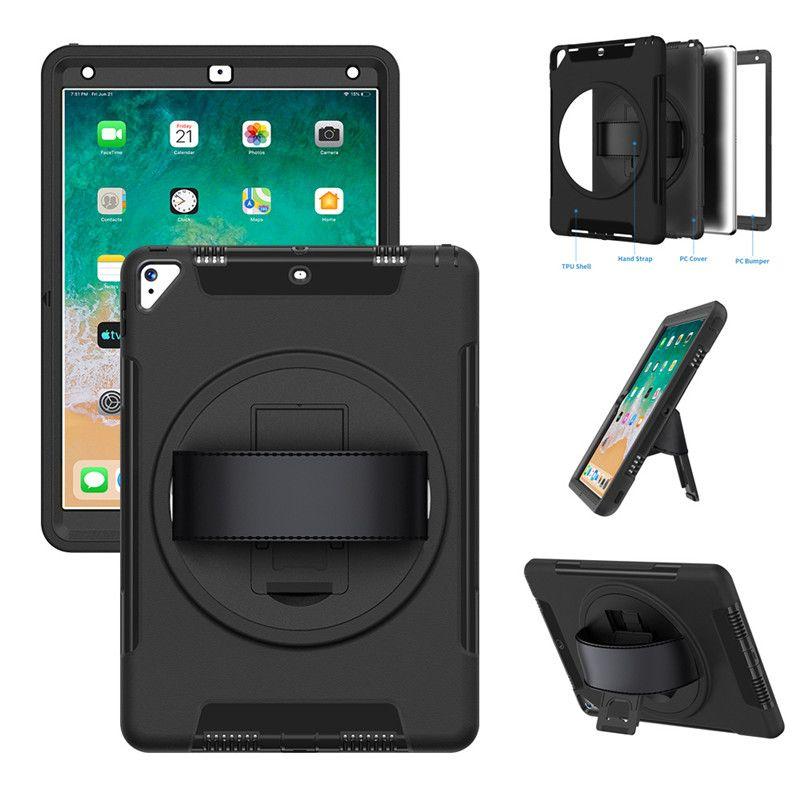 3IN1 하이브리드 로봇 수비수 헤비 듀티 충격 방지 태블릿 케이스를 들어 아이 패드 10.2 미니 5 아이 패드 2 3 4 프로 10.5 항공이 아이 패드 9.7 2017 2018 프로 (11) 2018