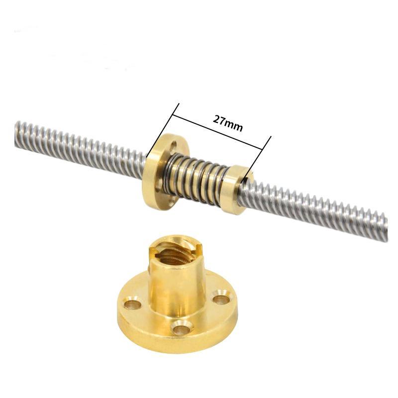 1 PCS 3D Imprimante Pièces Fileté Tige de vis à tête de bricolage CNC T8 Anti Ressort De Contreplaque Chargé Écrou Élimination Gap Nut pour 8mm
