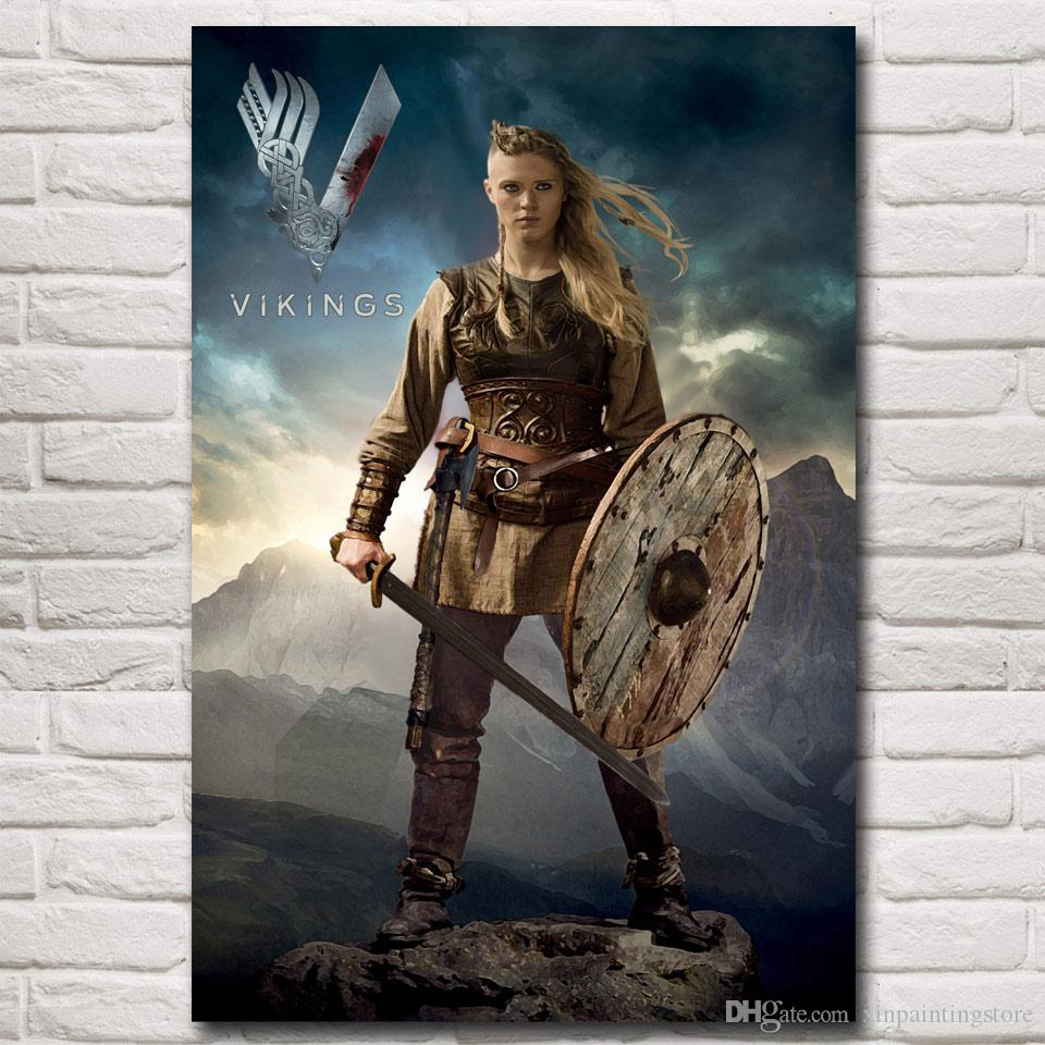 Vikings TV Series Art Silk Fabric Poster Print Home Wall Decor Pictures 12x18 16X24 20x30 24x36 Inches Free Shipping