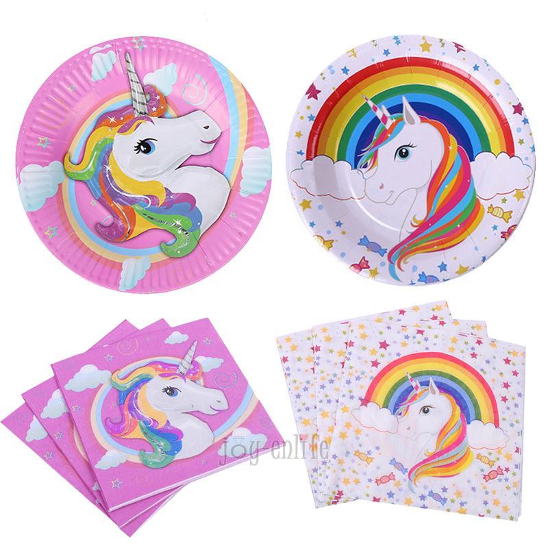 Anniversaire licorne fête en papier Serviette Licorne Servilletas Decoupage bébé Douche Serviettes Tissue Serviettes Party Supplies événement