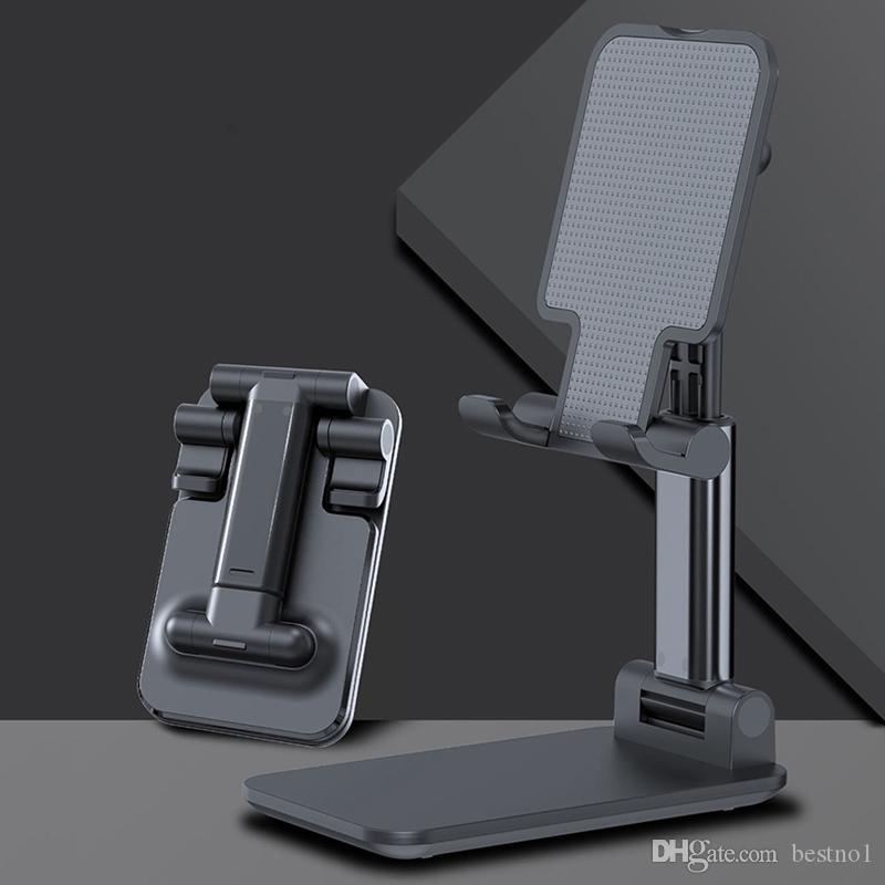 مكتب حامل الهاتف المحمول لفون العالمي قابل للتعديل معدن سطح المكتب اللوحي الجدول حامل خلية طوي تقديم الدعم لباد