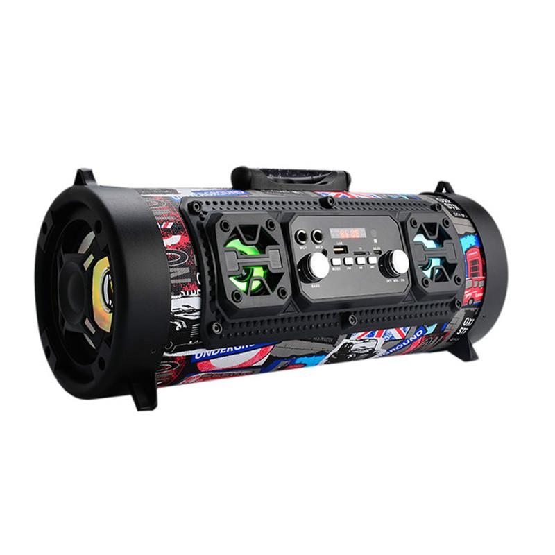 20W Hifi Portable Bluetooth Speaker FM Radio Move KTV 3D Sound system Sound bar subwoofer Portable Column Bluetooth Speakers FM radio