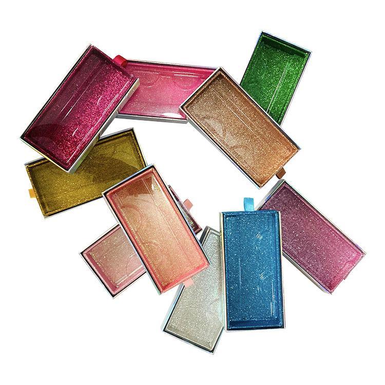 Faux Cils gros Packaging Boîte Lash Boîtes d'emballage Logo personnalisé Faux Cils Vison Cils magnétique boîtier carré en vrac Vendeur chaud