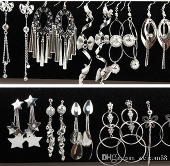 10Pairs / lote mistura estilo de cristal bride brinco dangle candelabro para artesanato moda jóias presente ep702