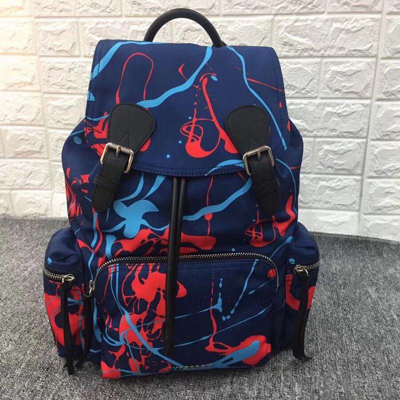 Verastor Nylon Dame Casual Mode Top Qualität Handtaschen Eimer Tasche Rucksack Designer Kapazität Student's Taschen Design Große Frauen TDJFI