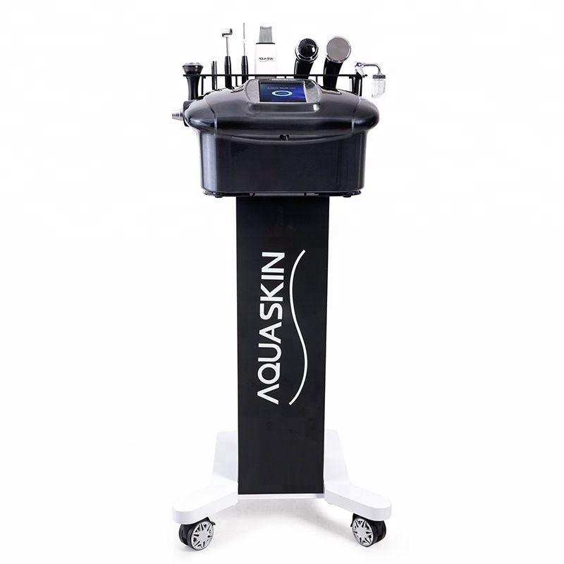 다기능 피부 관리 얼굴 세척 초음파 피부 crubber 산소 스프레이 아름다움 기계 aquaskin