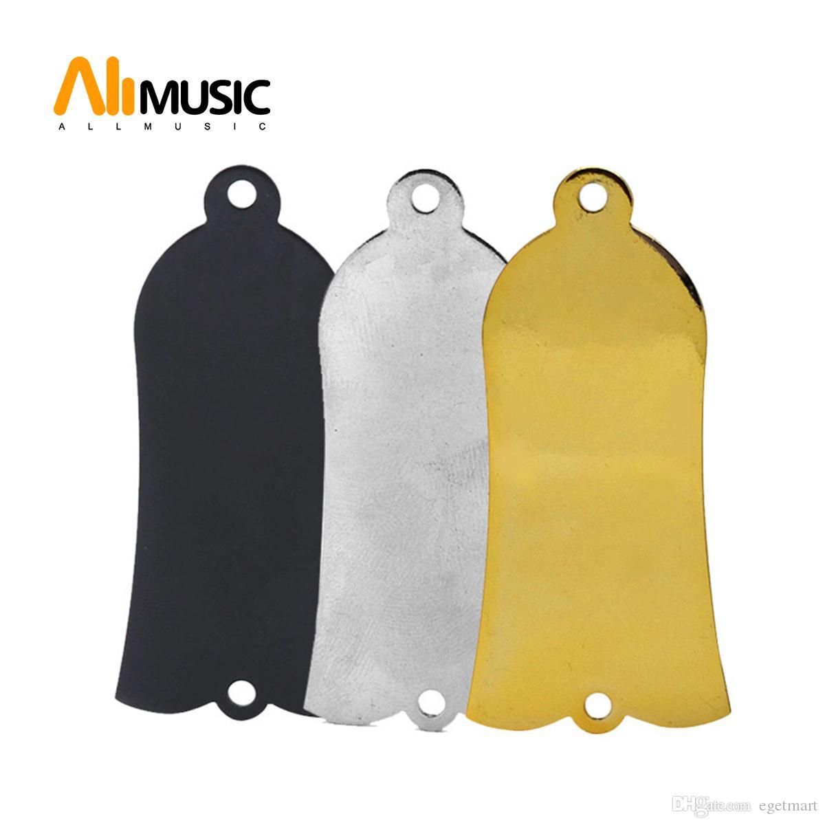Baixo elétrico acústico 2 furos de metal Truss Rod Plate Cover - Chrome - preto - dourado para escolher MU1308
