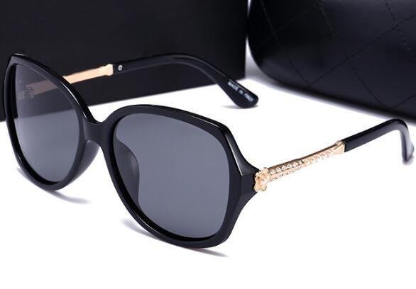2019 nuove signore retrò occhiali da sole polarizzati grande struttura di modo occhiali 55004 anti-UV occhiali da sole di una generazione