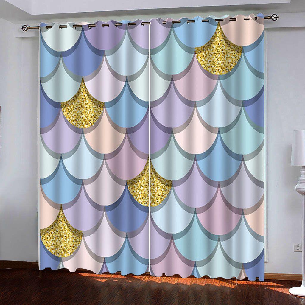 3d rideaux pour la taille Salon Enfants Chambre Tissu Cerchio di Colore luxe sur mesure Blackout Fenêtre 3D Rideaux