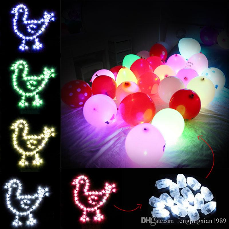 100pcs/lot LED Light Up Balloon Light Christmas Birthday Balloons Wedding Home Party Decor Event Party Supplies