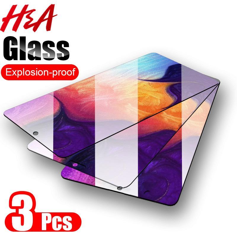 3Pcs vetro di protezione per Samsung Galxy A50 A40 A30 A20 A10 A60 A70 A90 A20E protezione dello schermo per M10 M20 M30 M40 vetro temperato