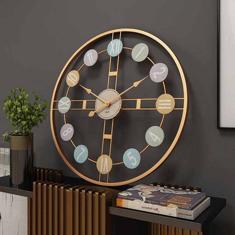 Compre Creative Silent Large Wall Clock 3d Retro Rustico E Decorativo Metal De Luxo Feito A Mao Relogio De Parede Gigante Para Decoracao Caseira Cafe De Homedod 351 83 Pt Dhgate Com