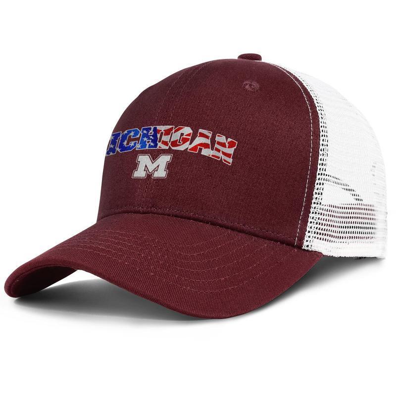 Vintage Michigan State America Flag-1 Adult Custom Denim Sun Hat Adjustable Baseball Cap