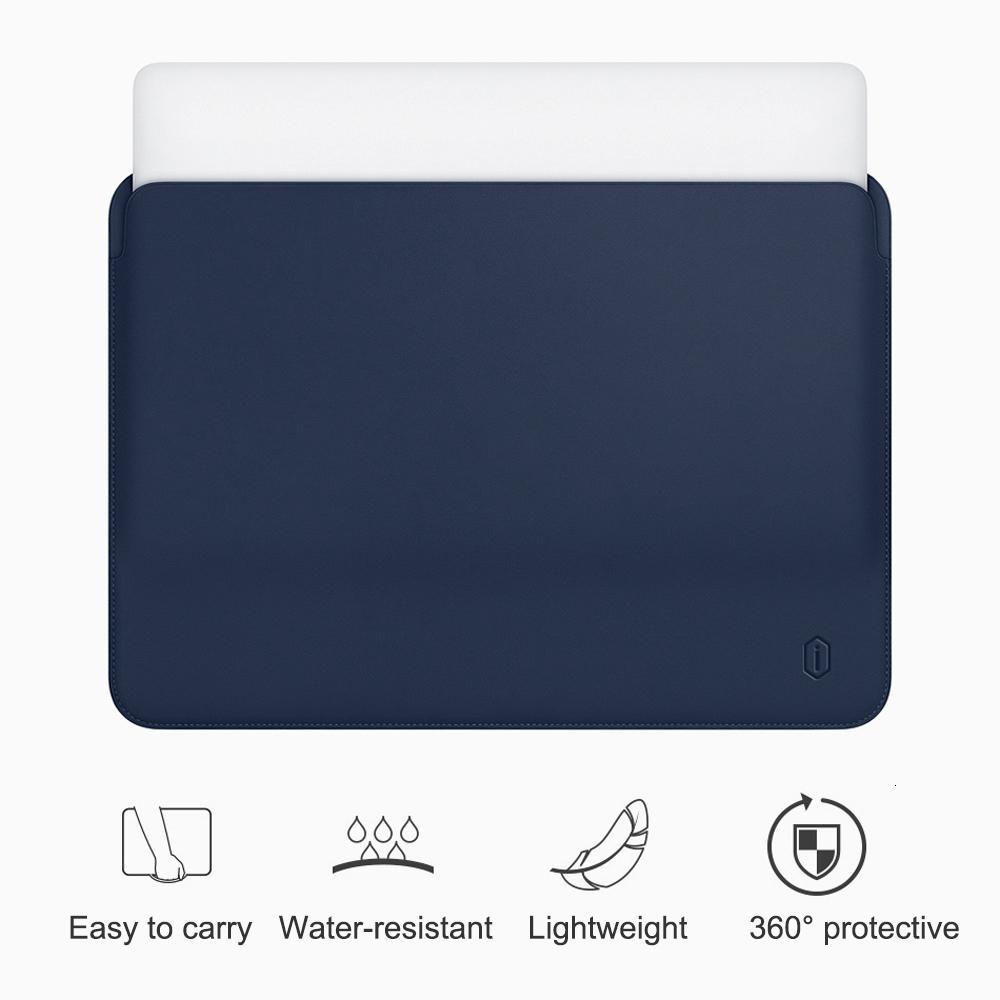 WiWU Laptop Sleeve для MacBook Air 13 дюймов водостойкий PU кожаный чехол для MacBook Pro сумка 13 15 дюймовый ультратонкий корпус ноутбука SH190924