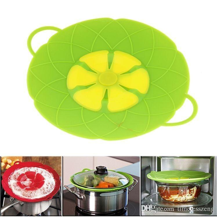 New Arrival SPILL STOPPER 2017 Kitchen Gadgets Silicone Lid Spill Stopper Pot Cover Cooking Pot Lids Utensil