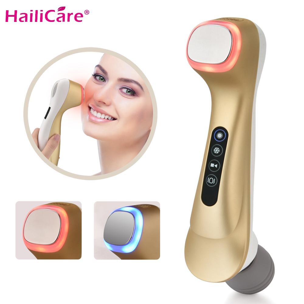 LED Hot Cold Hammer Beauty Household Essence Negative Ion Lifting Vibrator Massager Facial Body Spa Import Export Beauty Machine