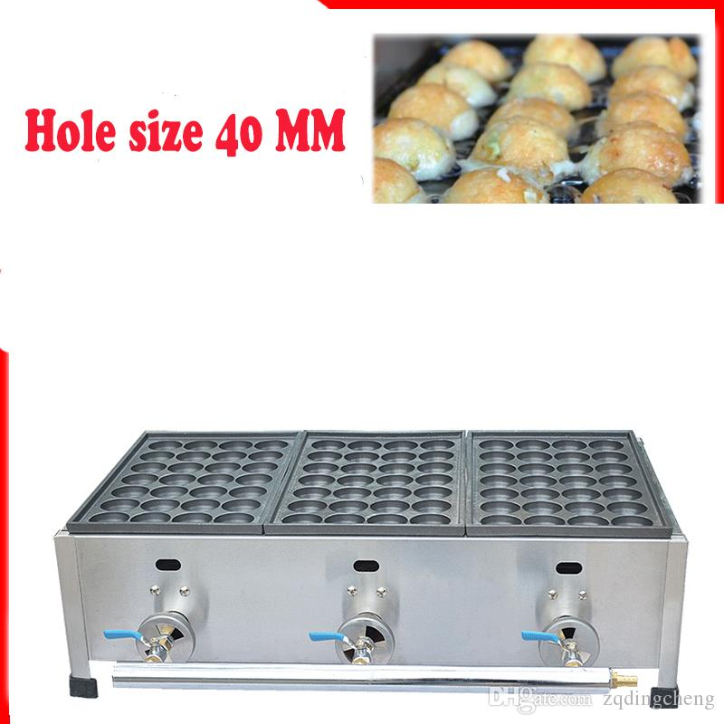 Frete Grátis Tipo de gás 3 placa Takoyaki Máquina Fabricante Diâmetro 40 MM ou 45 MM