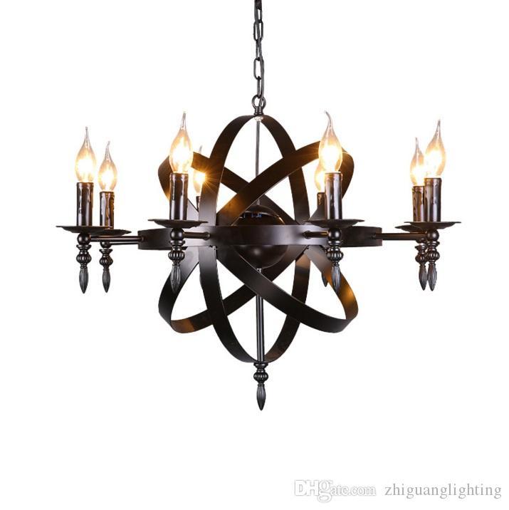 America county style pendant lights living room lofter lifting lamp cloth shop picture lighting bar Retro Pendant Lamp lustres