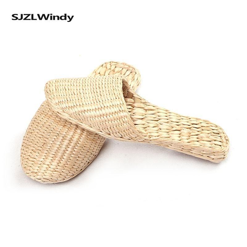 Pistoni di estate per le donne adattano sandali di paglia Ultra Light flip casuale delle donne -flops non -slip Beach Apartments