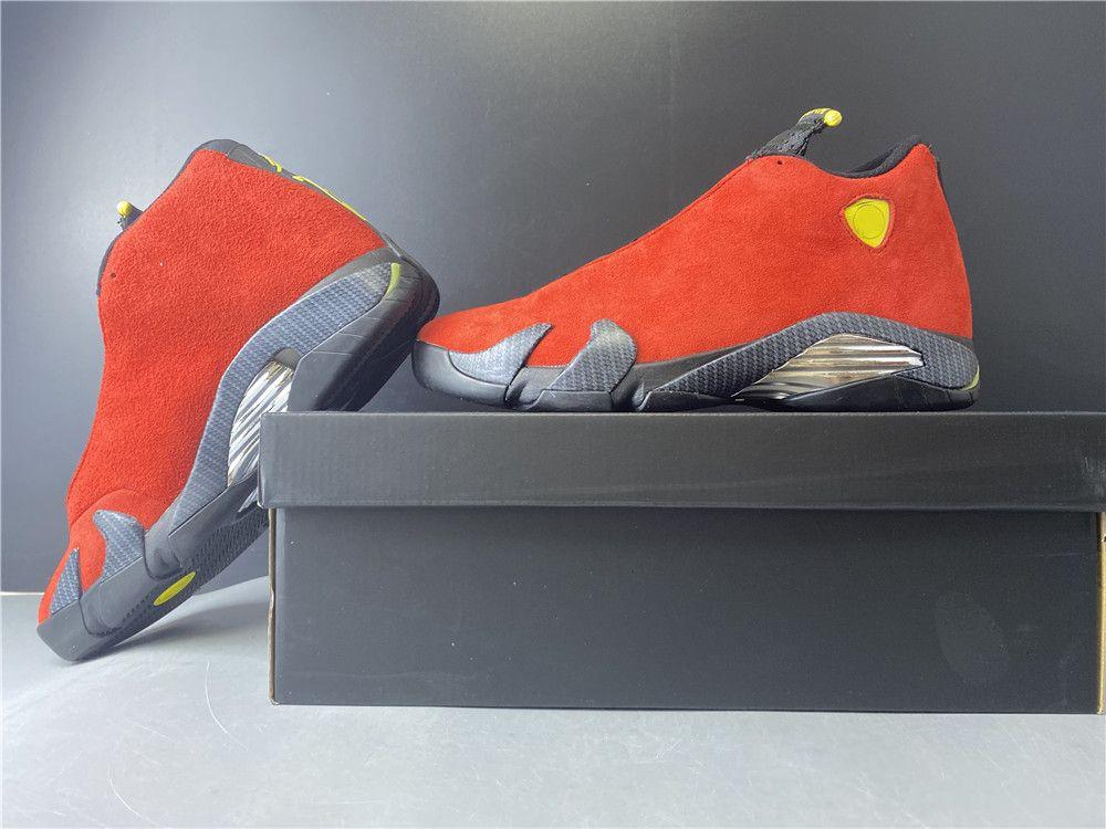 2020 Yeni With Box Erkekler 14s Basketbol Ayakkabıları 14 Süet Siyah Kırmızı Tasarımcı Lüks Trainer Atletik Spor Sneakers