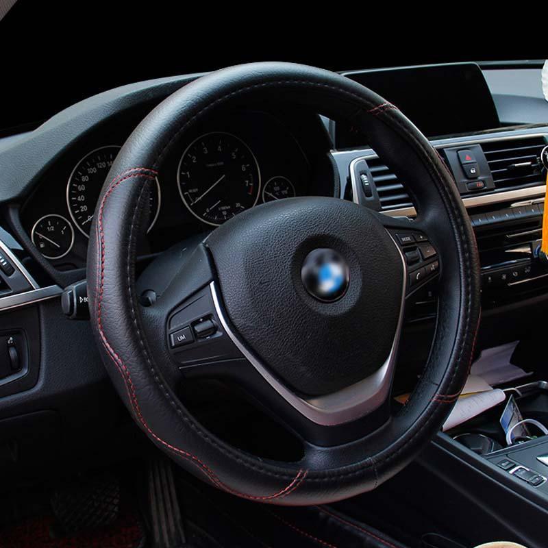 Cobrir no volante Para Diâmetro 36/37/38/39/40/41/42/43/44/45/46/47/48/49/50 CM Para carro caminhão ônibus van cobertura de direção