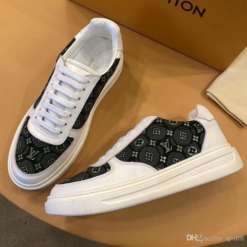 2020 B3 New Fashion Casual Chaussures hommes, de haute qualité à l'aise Luxe Chaussures Hommes Cuir Sneakers Boîte emballage d'origine Zapatos Hombre
