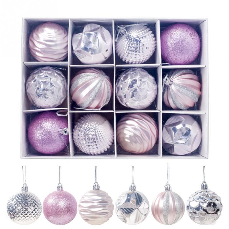 12pcs Christmas Tree Ball Decorations for DIY Xmas Party Wedding 5.5CM Ball Baubles Hanging Ornament for Home Christmas Decor
