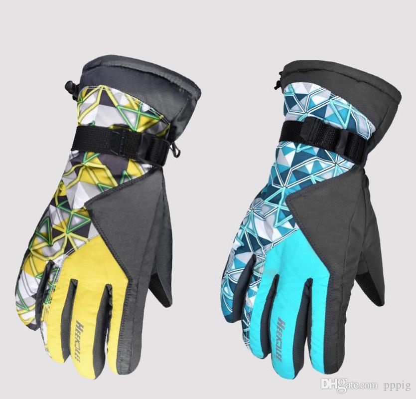 2019 invierno hombres y mujeres de esquí engrosamiento casual guantes deportivos al aire libre pantalla táctil táctil impermeable antideslizante guantes a prueba de viento