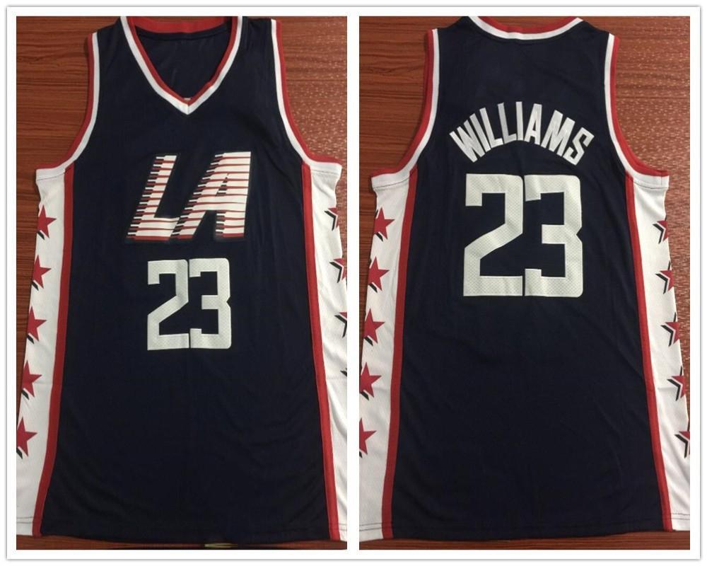 new concept 663e8 16de7 2019 Stitched 23 Lou Williams Jerseys New City Navy Blue Lou Williams  Jersey Breathable Sportswear Shirt From Xingwangshangmao, &Price;    DHgate.Com